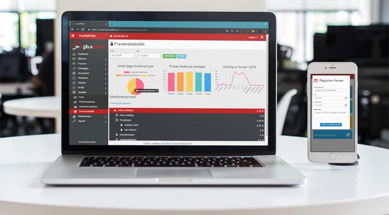 HR-funksjon med fravær og statistikk